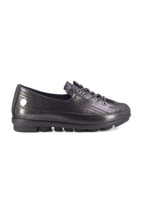 Mammamia D20YA-750 Kadın Hakiki Deri Ayakkabı Platin