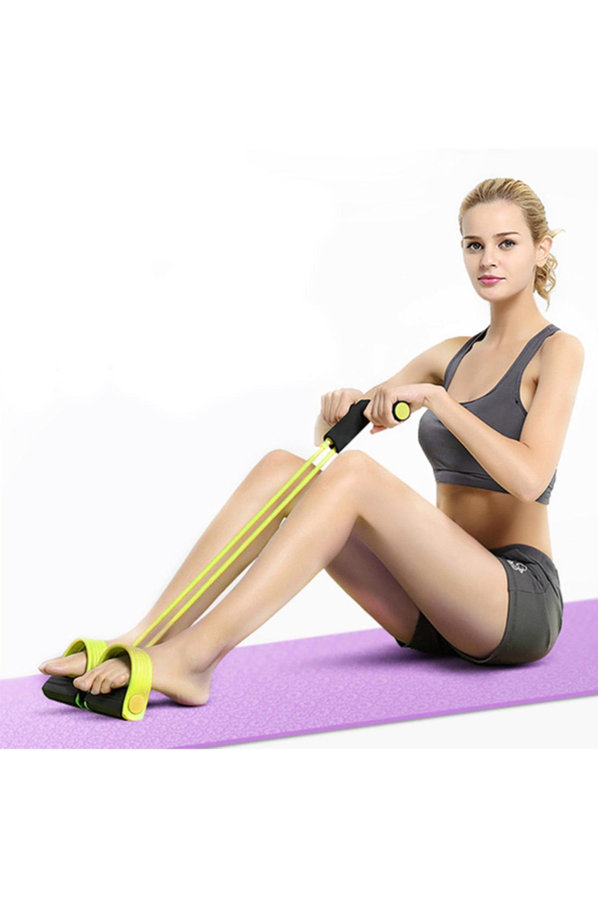 zabata Body Trimmer Wall Pulley Kondisyon Küreği Mekik Direnç Lastiği Spor Egzersiz Aleti 1