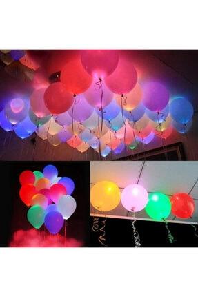 Partini Seç 10 Karışık Işıklı Balon+10 Led Balon Işığı
