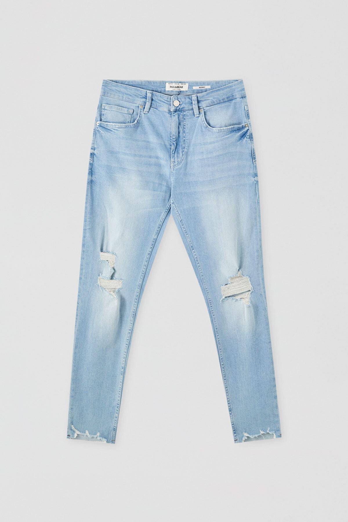 Pull & Bear Erkek Distressed Premium Skinny Fit Jean 05682563