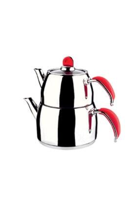 Remetta Sapore Aile Boy Çelik Çaydanlık Kırmızı