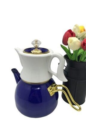 Dufy Verda Emaye Porselen Çaydanlık 2,3 litre Lacivert