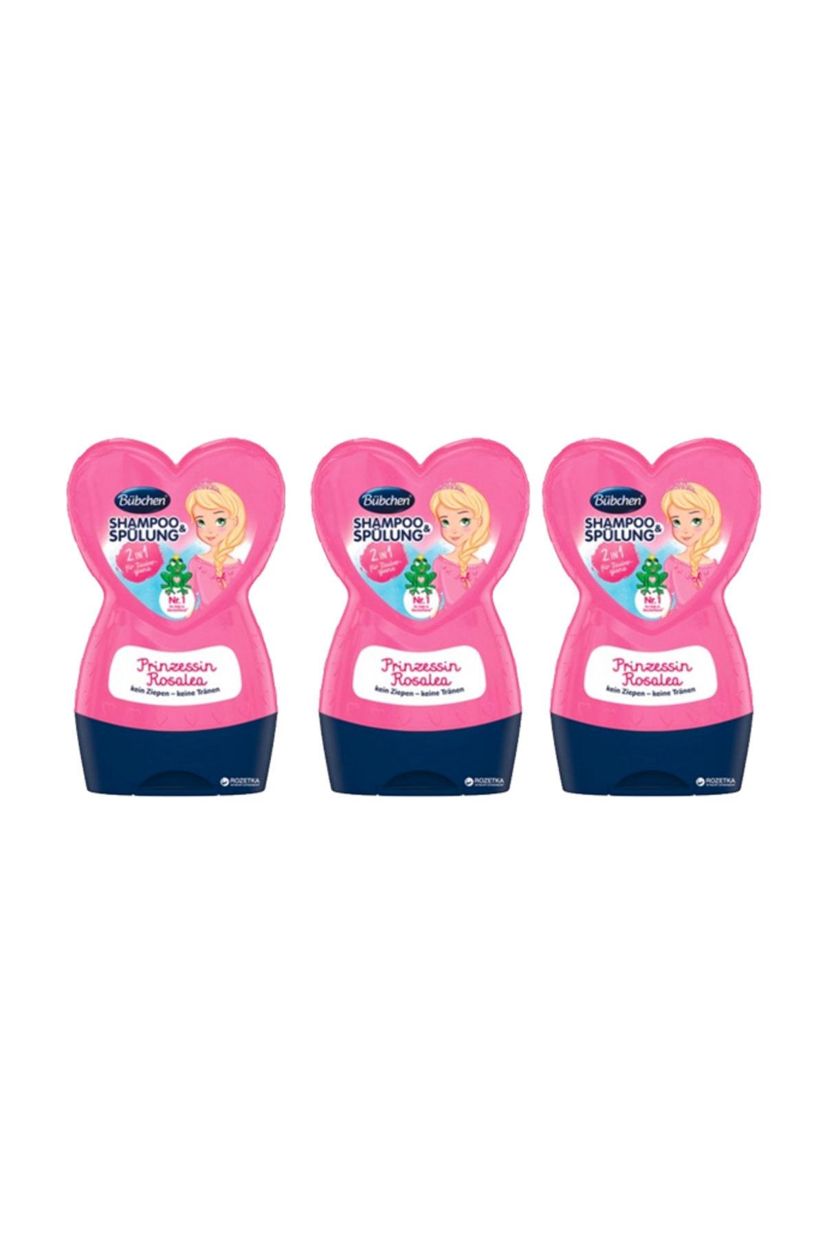 Bübchen Prenses Rosalea Çocuk Şampuanı + Balsam 230 Ml X 3 Adet 1