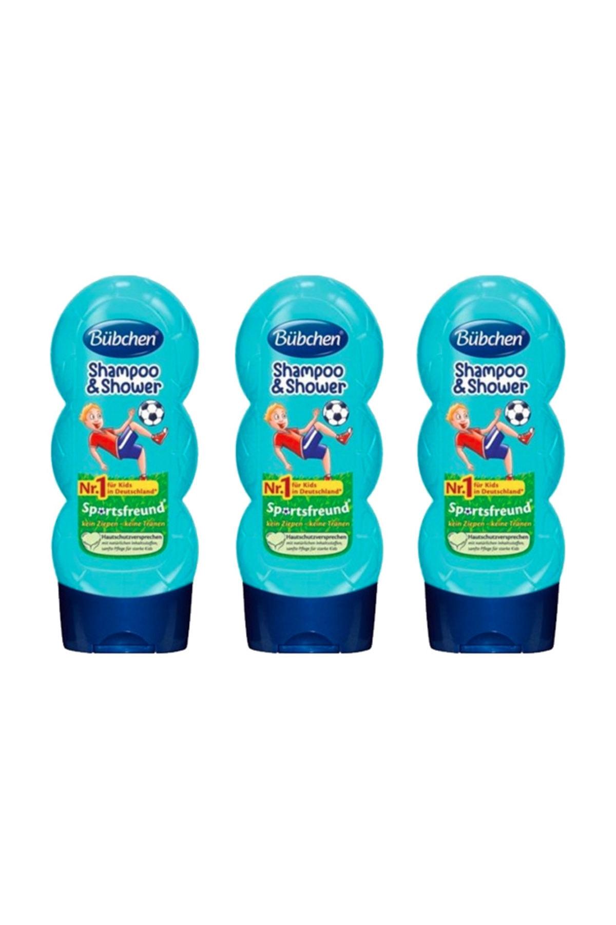 Bübchen Sport Çocuk Şampuanı Ve Duş Jeli 230 Ml X 3 Adet 1