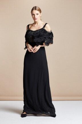 SERPİL Işlemeli Fırfırlı Elbise