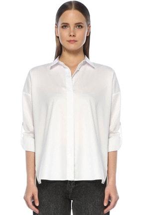 Network Kadın Basic Fit Beyaz Gömlek 1074125
