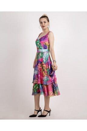 SERPİL Çiçekli Desenli Uzun Elbise