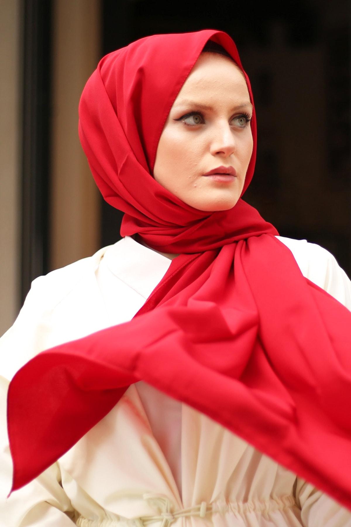 Stella Medine Ipeği Şal Kırmızı 1