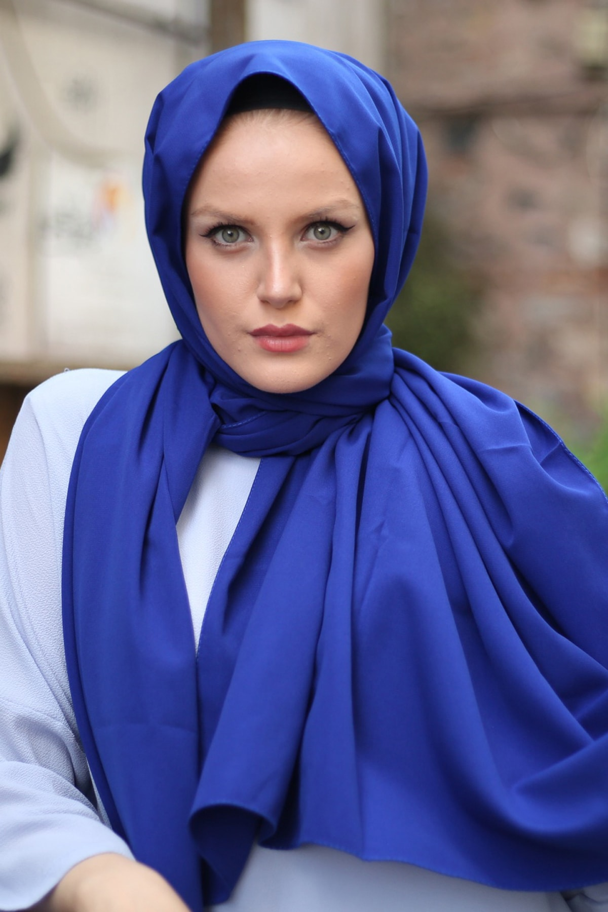 Stella Medine Ipeği Şal Saks Mavi 1