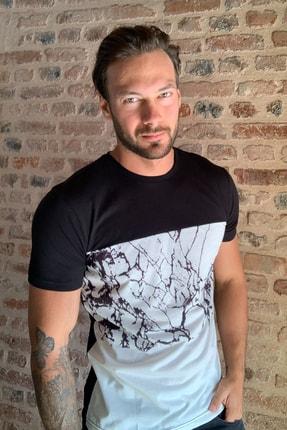 TRENDYOL MAN Siyah Erkek Slim Fit T-Shirt TMNSS20TS1294
