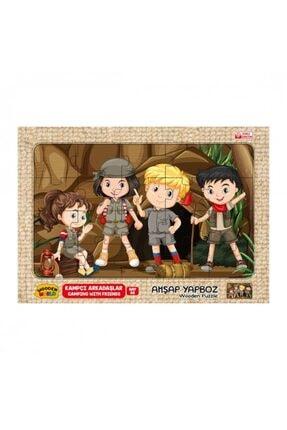 Wooden Toys Kampçı Arkadaşlar Temalı Ahşap 3mm Mdf Puzzle 20 Parça  20 Cm * 30 Cm