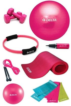 Delta 10 mm Deluxe Minderli 75 cm PFS Full Pilates Seti
