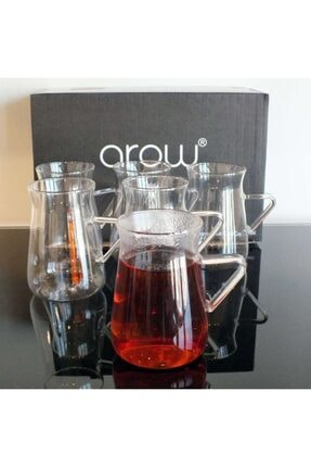 AROW Borosilikat 6'lı Çay Seti