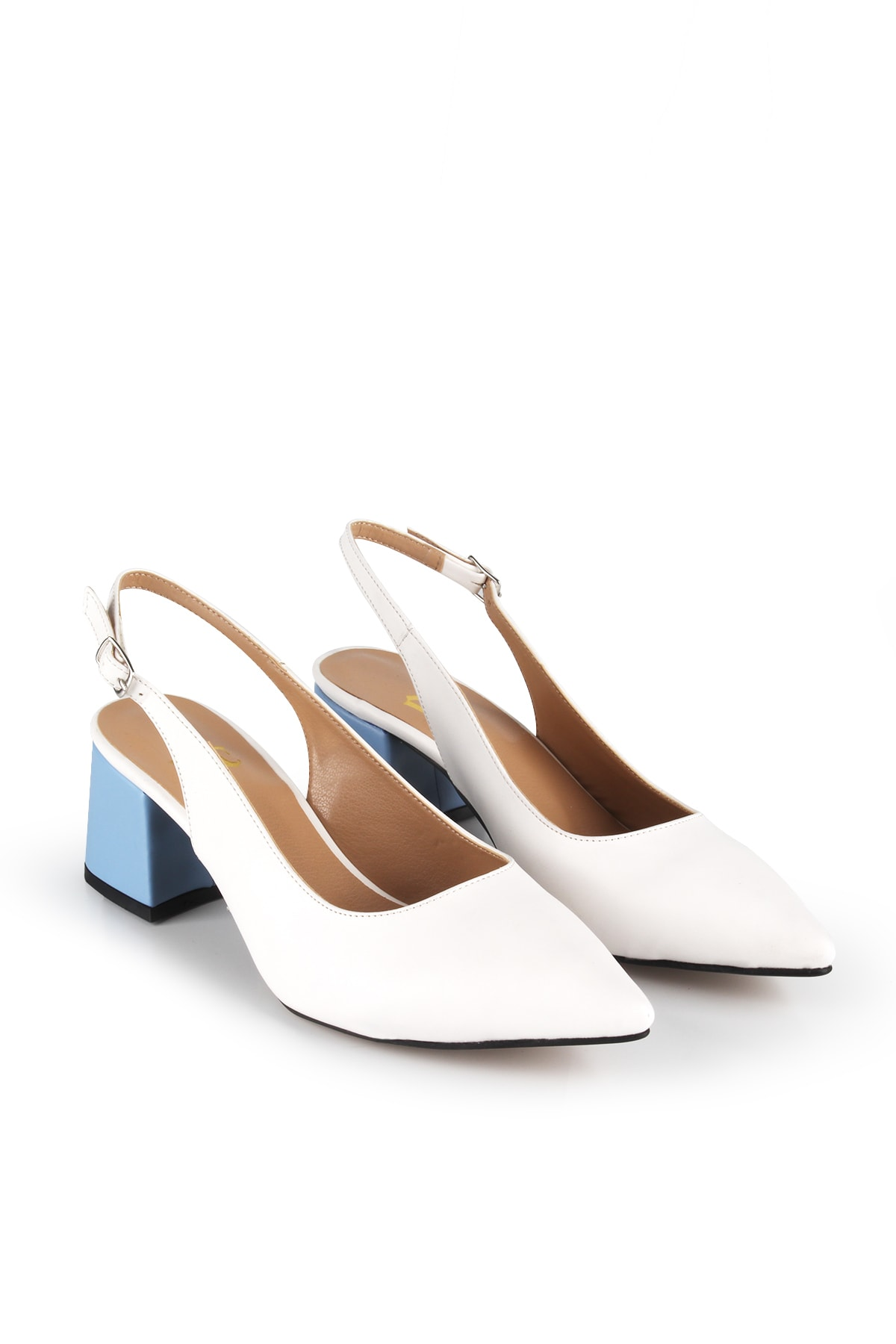 Gökhan Talay Beyaz Kadın Topuklu Arkası Açık Ayakkabı 2