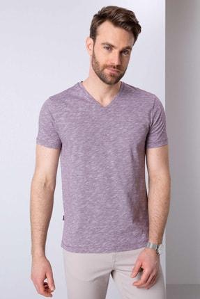 Pierre Cardin Erkek Bordo Slim Fit T-Shirt