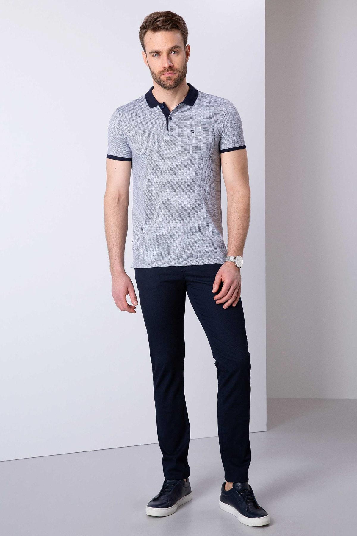Pierre Cardin Erkek Lacivert Slim Fit Polo Yaka T-shirt 2