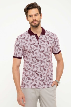Pierre Cardin Erkek Bordo Slim Fit Polo Yaka T-Shirt