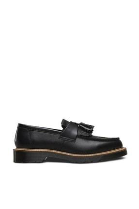 Dr. Martens Adrian Tassel Loafer Straw Siyah Deri Erkek Ayakkabı 23163001 Siyah