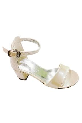 Mini Angel Kız Çocuk Topuklu Abiye Balo Ayakkabısı , Krem, 29-36 Numara