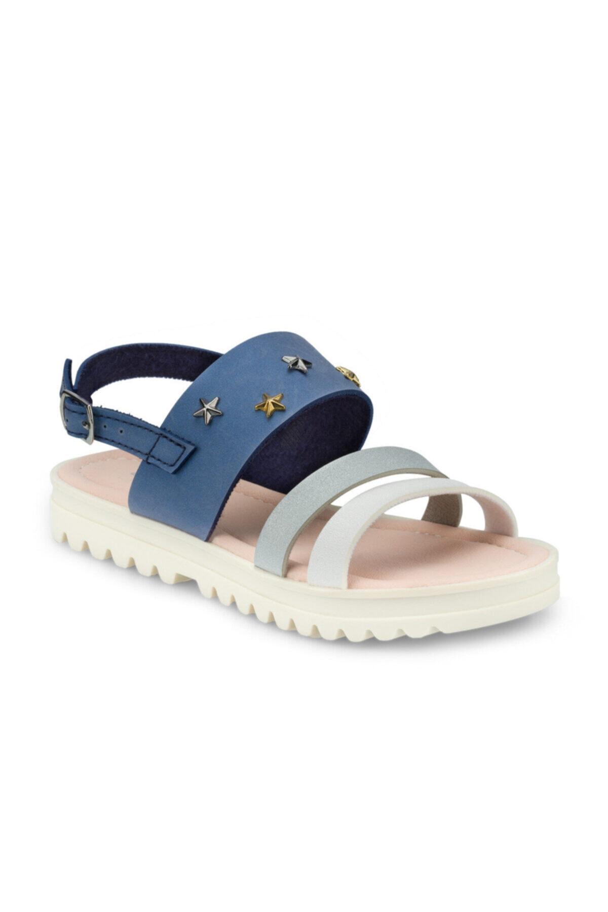 Polaris 512477.F Mavi Kız Çocuk Sandalet 100499833 1