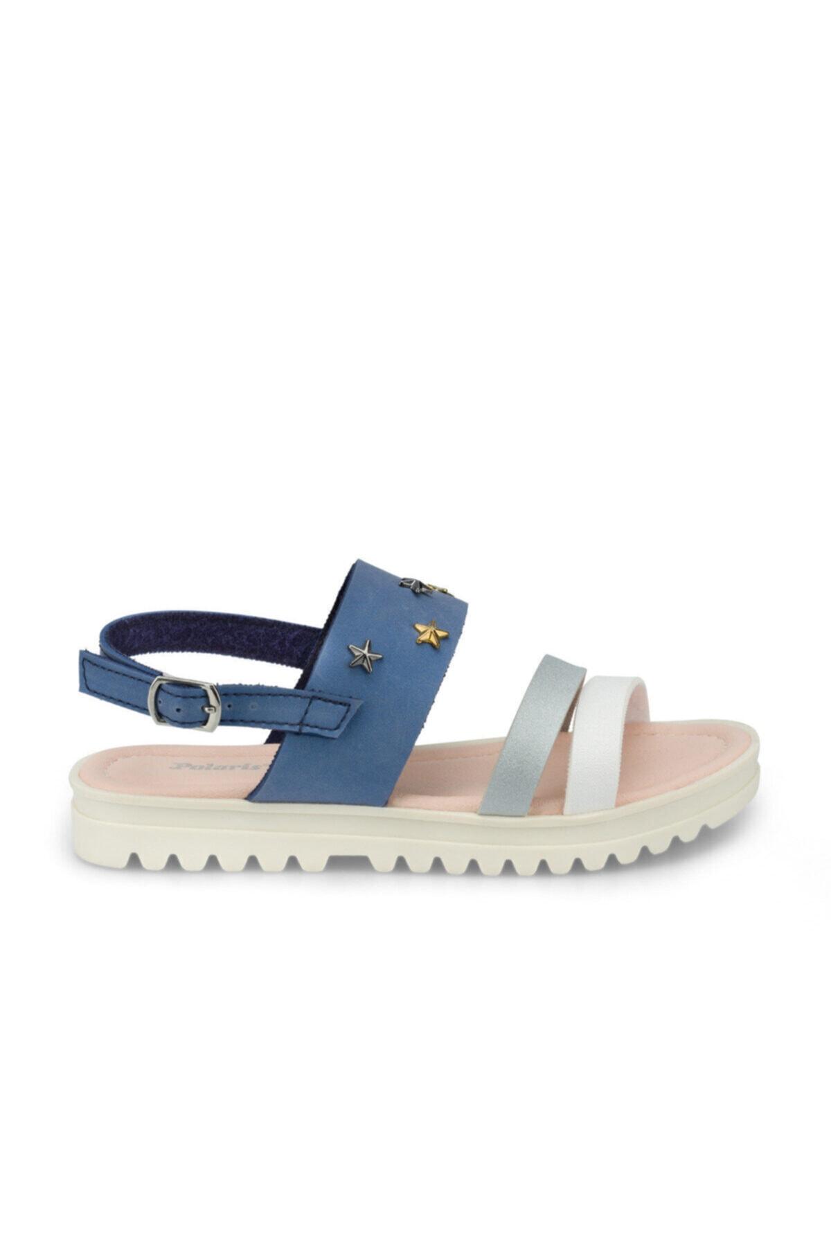 Polaris 512477.F Mavi Kız Çocuk Sandalet 100499833 2