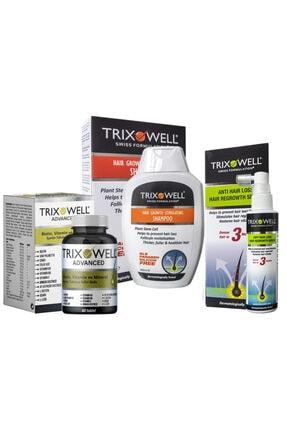 Trixowell Saç Dökülmesine Karşı Şampuan + Serum + Vitamin Set