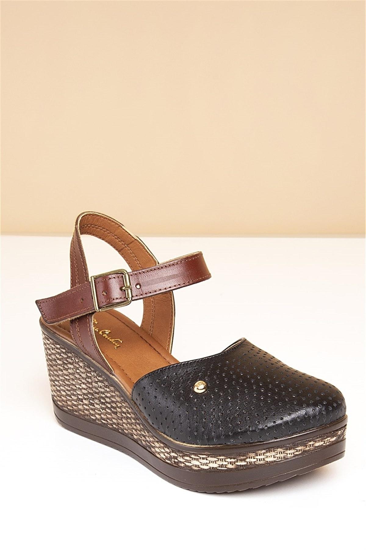 Pierre Cardin Pc-2392 Siyah Kadın Sandalet 1