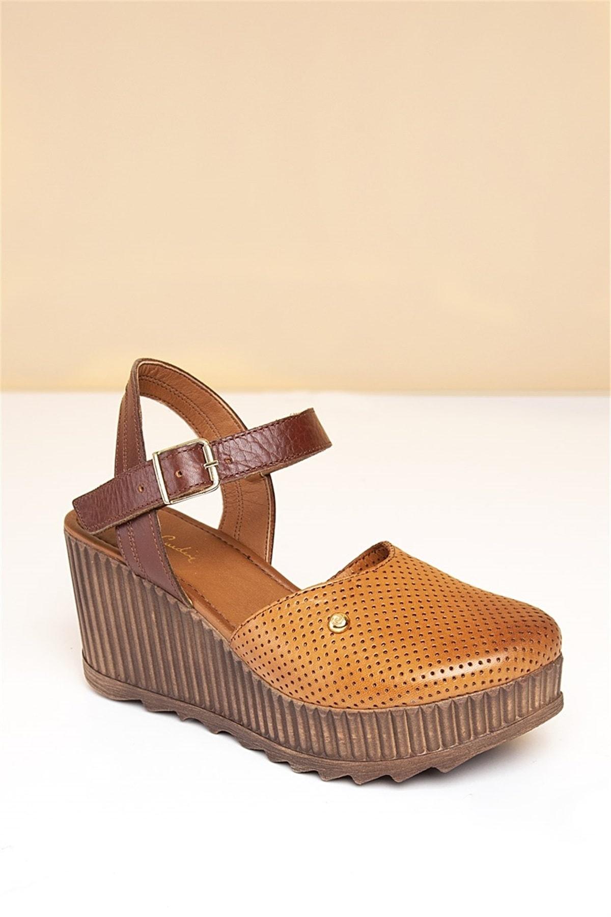 Pierre Cardin PC-2123 Taba Kadın Sandalet 1