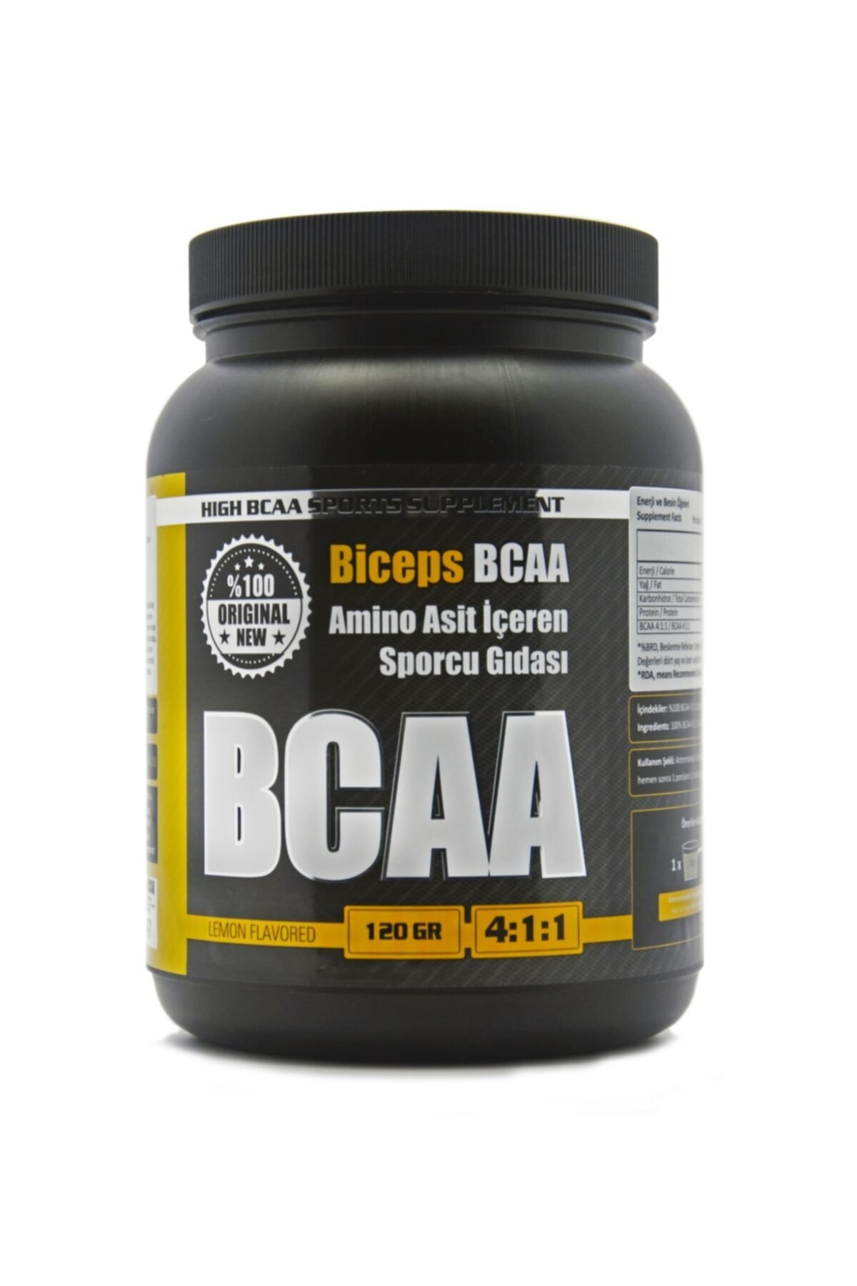Biceps Biceps Bcaa Limonlu  Limon Aromalı 120 gr 24 Servis 1