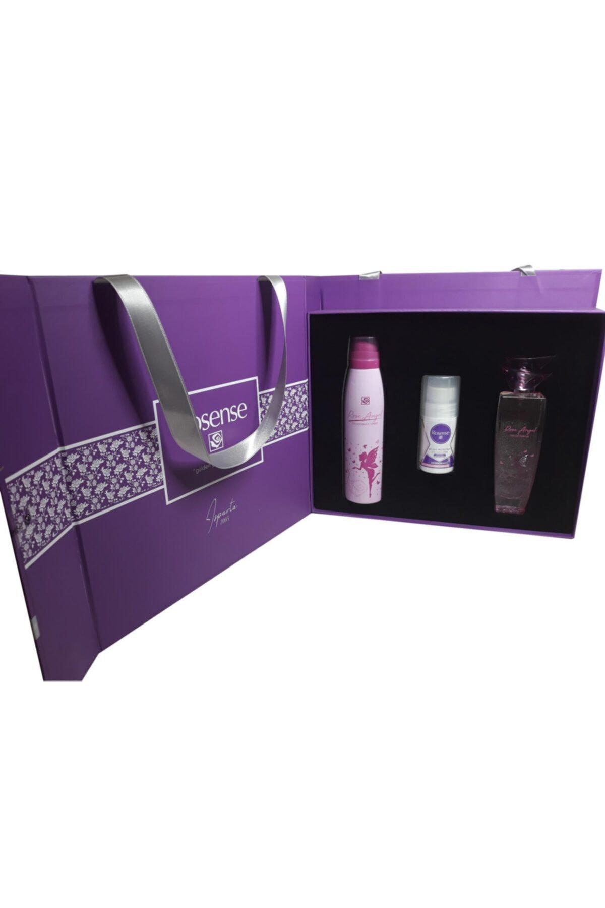 Rosense Hediyelik 3'lü Bayan Parfüm-deodorant Seti (premium) 1