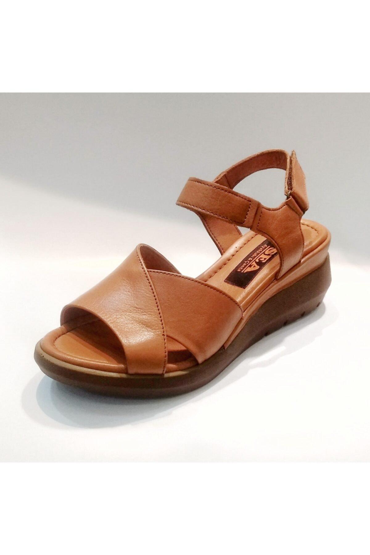 Stella Kadın  Hakiki Deri Sandalet 1