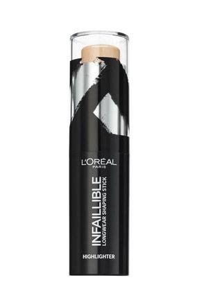L'Oreal Paris Stick Aydınlatıcı - Infaillible Shaping Stick 502 Gold is Cold 3600523533497