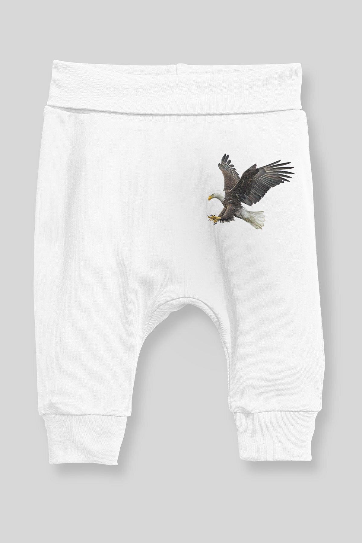 Angemiel Baby Şahin Erkek Bebek Şalvar Pantalon Beyaz 1