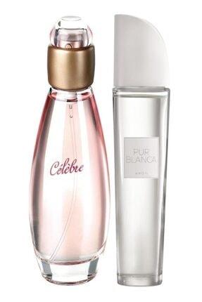 AVON Kadın  Celebre Parfüm Edt 50 ml +  Pur Blanca Kadın Parfüm Edt 50 ml