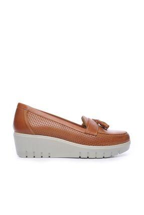 KEMAL TANCA Hakiki Deri Kahverengi Kadın Comfort Ayakkabı 211 7278 BN AYK