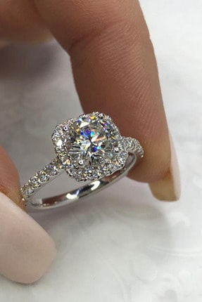 Crystal Diamond Zirconia Labaratuvar Pırlantası 1.75 Carat Tektaş Yüzük