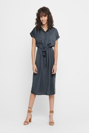 Only Kadın Cepli Gömlek Elbise 15191953