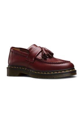 Dr. Martens Adrian Tassel Loafer Smooth Bordo Deri Erkek Ayakkabı 22209600 Bordo