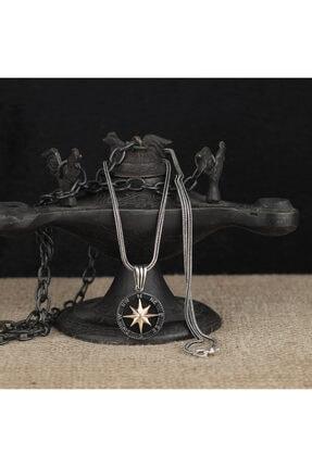 Tesbihsepetim 925 Ayar Gümüş Pusula Model Kolye