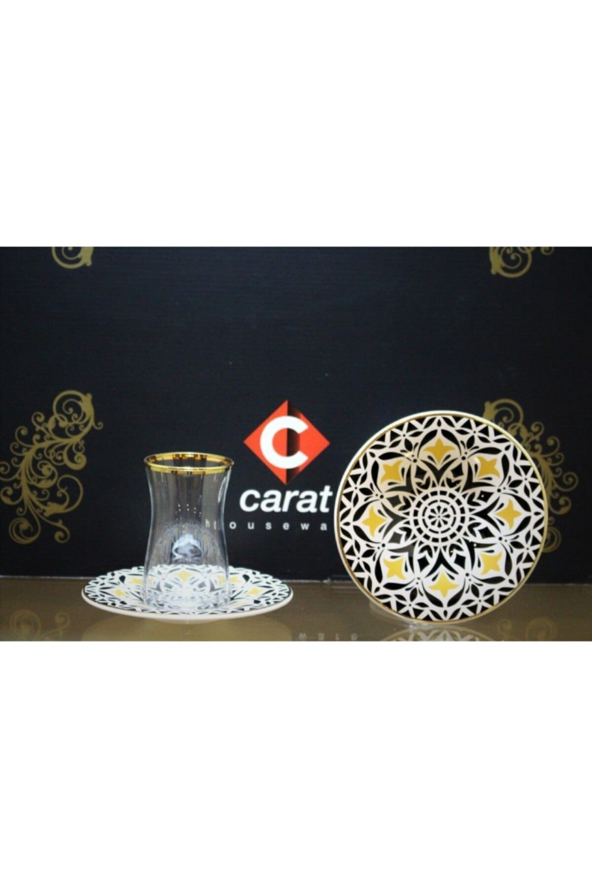 çerçi Carat 6 Lı Çay Bardağı Lale 1