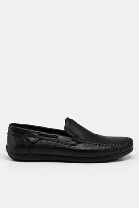 Hotiç Hakiki Deri Siyah Erkek Loafer