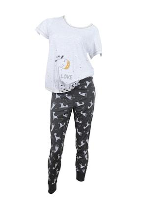 Kompedan Kadın Kısa Kol Pijama Takımı 8111133153