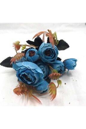 Kullan At Market 5 Ve 10 Kafa Şakayık Halinde Mavi Renk Süsleme Dekorasyon