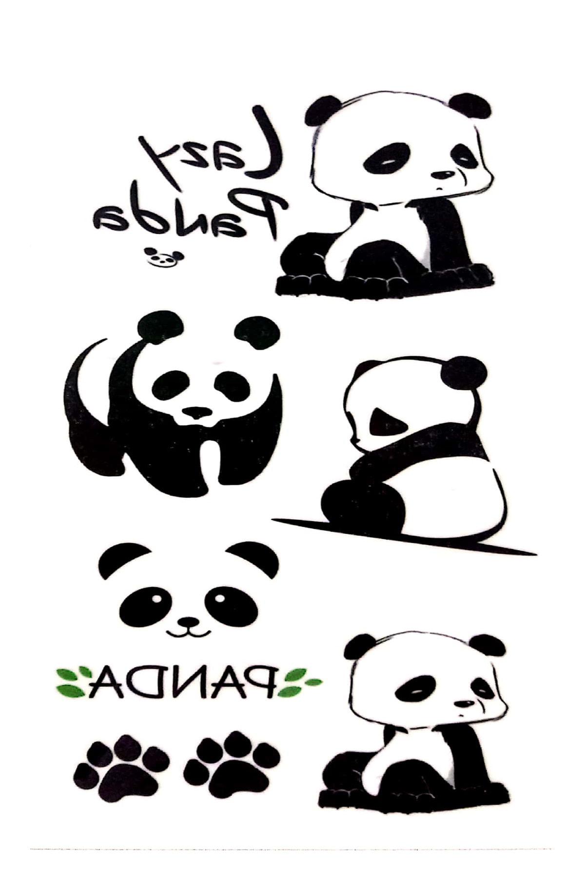 Parti dolabı Tattoo Geçici Dövme Sevimli Panda 1