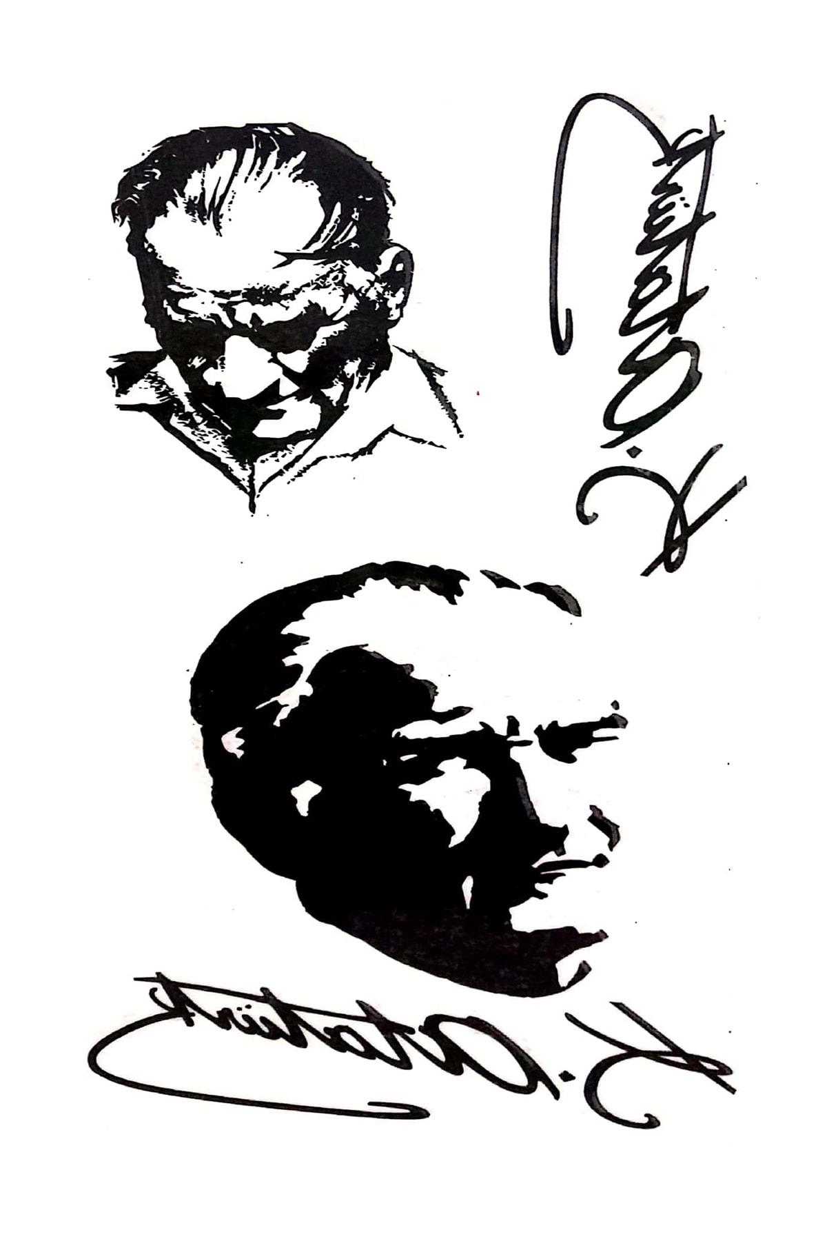 Parti dolabı Tattoo Geçici Dövme Atatürk Imza Dövmesi Modelleri 1