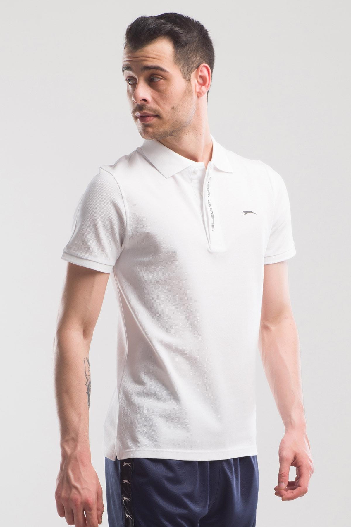 Slazenger Platon Erkek T-shirt Beyaz 2
