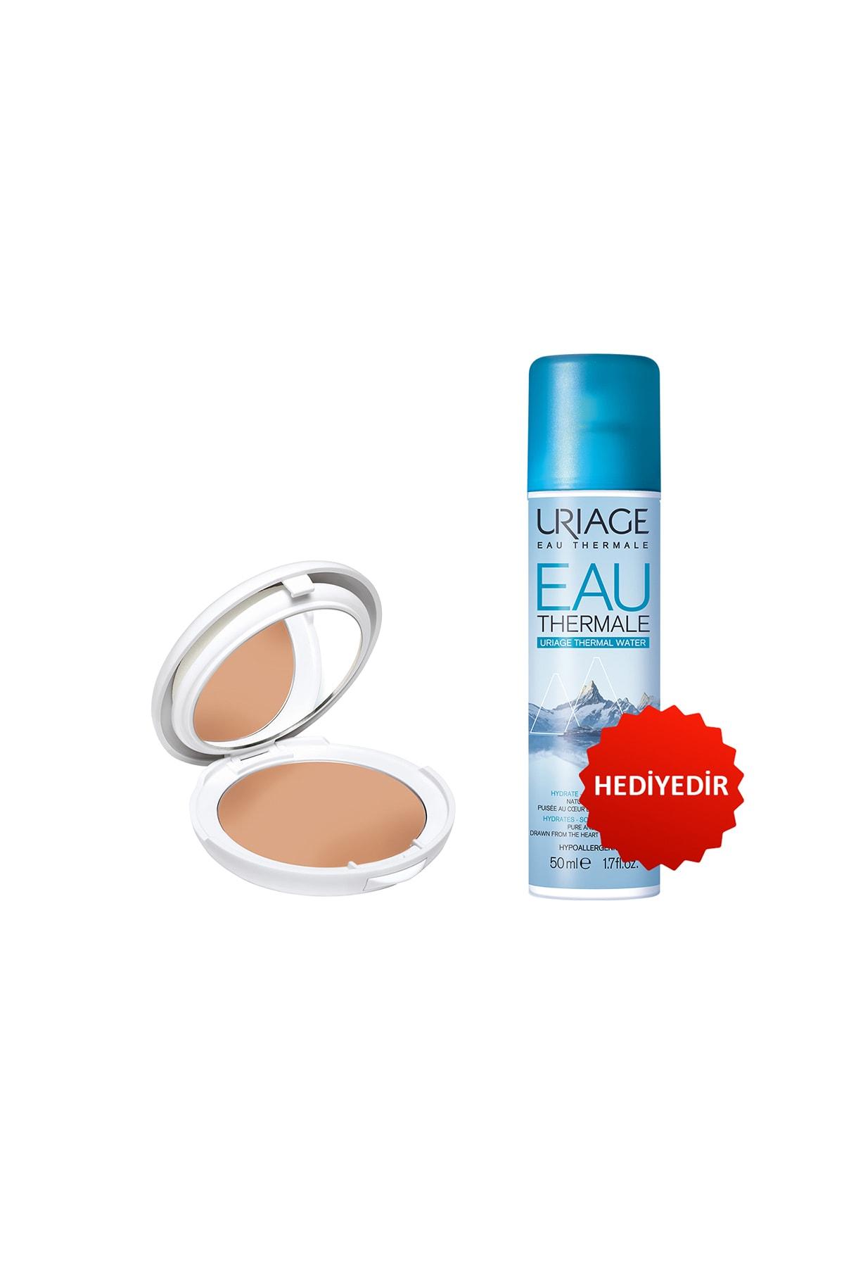 Uriage Bariésun Mineral Cream Golden Tinted Compact Spf50+(Güneş Koruyucu) + Eau Thermale D Uriage Sp 50 ml
