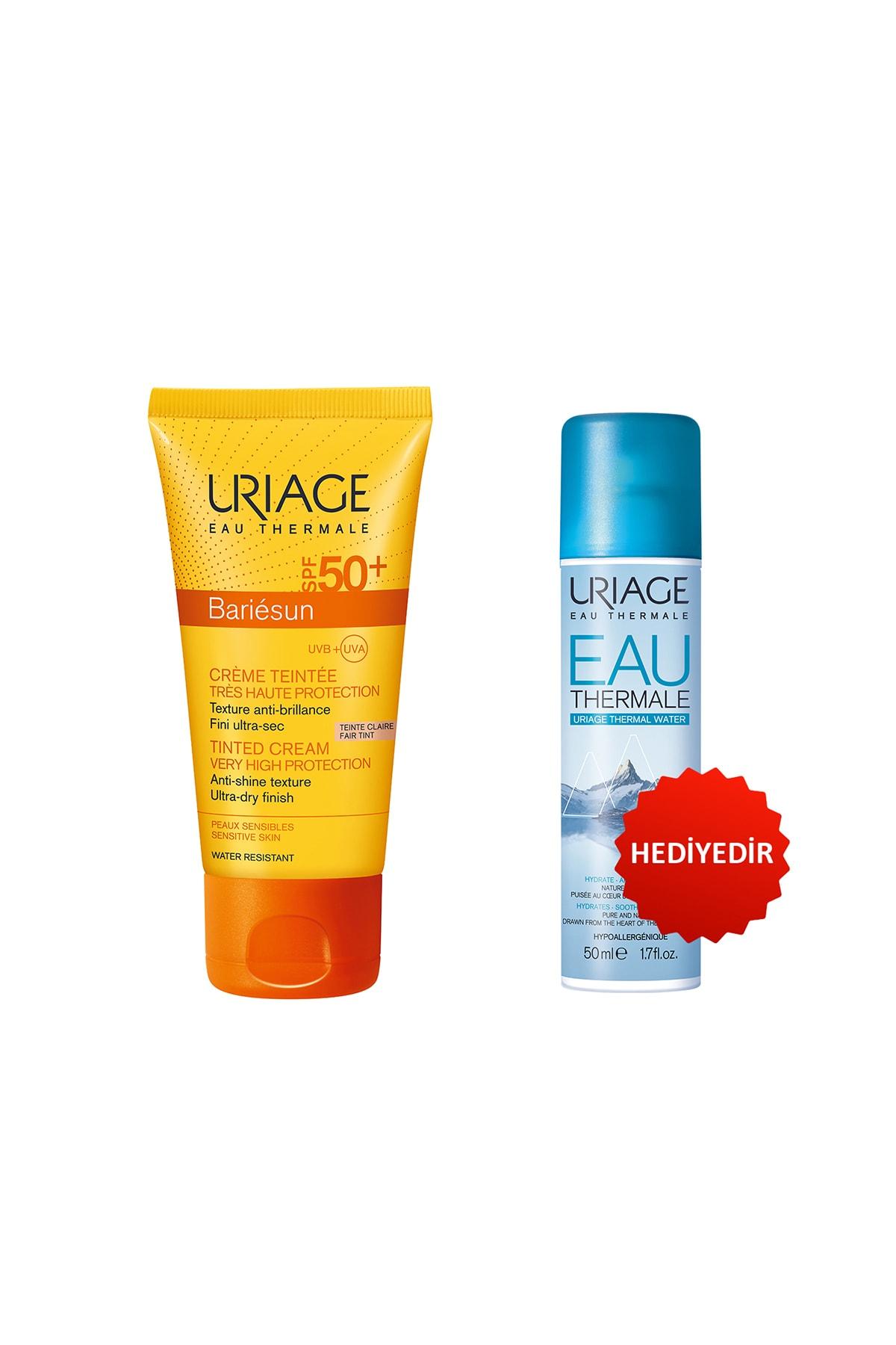 Uriage Bariésun Spf50+ Cr Claire T 50 ml (Renkli Güneş Koruyucu) + Eau Thermale D Uriage Sp 50 ml