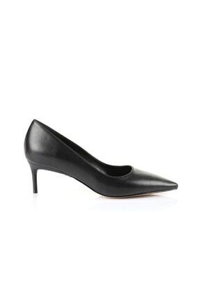 Oblavion Lenna Siyah Kısa Topuk Stiletto