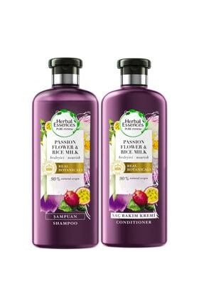 Herbal Essences Şampuan Çarkıfelek Çiçeği Ve Pirinç Sütü 400ml+saç Bakım Kremi 360ml